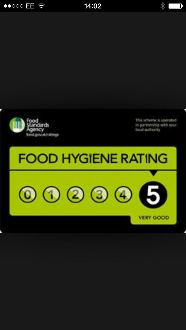 Volare Restaurant Five Star Rating
